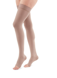 duomed advantage 30-40 mmHg thigh beaded topband open toe standard