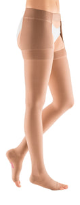 mediven plus 40-50 mmHg thigh waist attachment left open toe petite