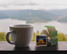 Load image into Gallery viewer, Lightload Puer Tea overlooking mountains with sampler and brick tea-lightload tea