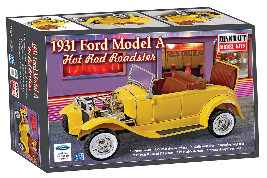 11240 1/16 \'31 Ford Roadster Hot Rod | Minicraft Models
