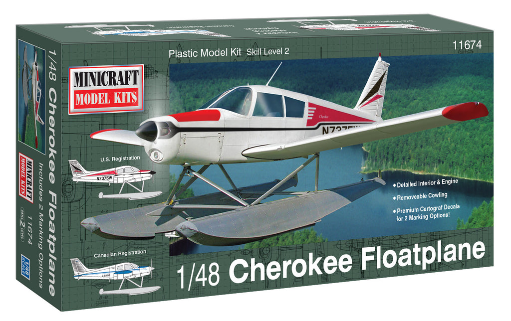 11674 1/48 Scale Cherokee Float Plane – New Tooling