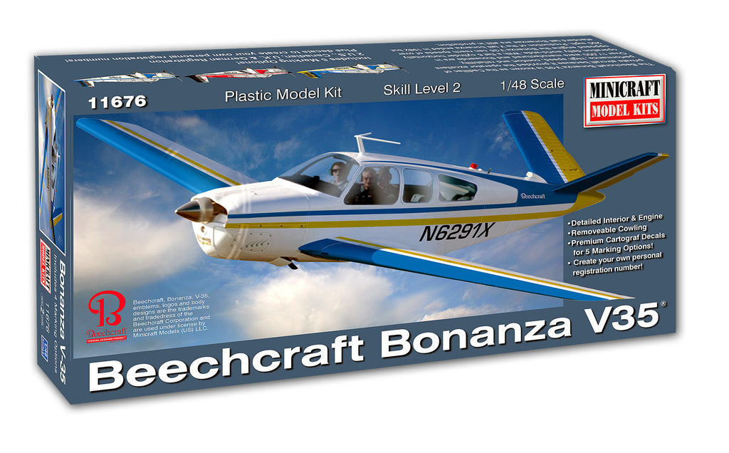 11676 1/48 Scale Beechcraft Bonanza