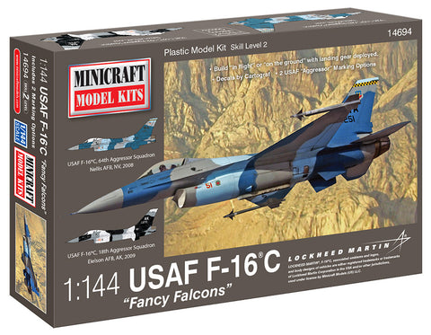 "14694 1/144 F-16 USAF ""Fancy Falcons"" w/3 options"