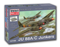 14729 1/144 JU-88A/C Luftwaffe (Pre-painted Canopy)