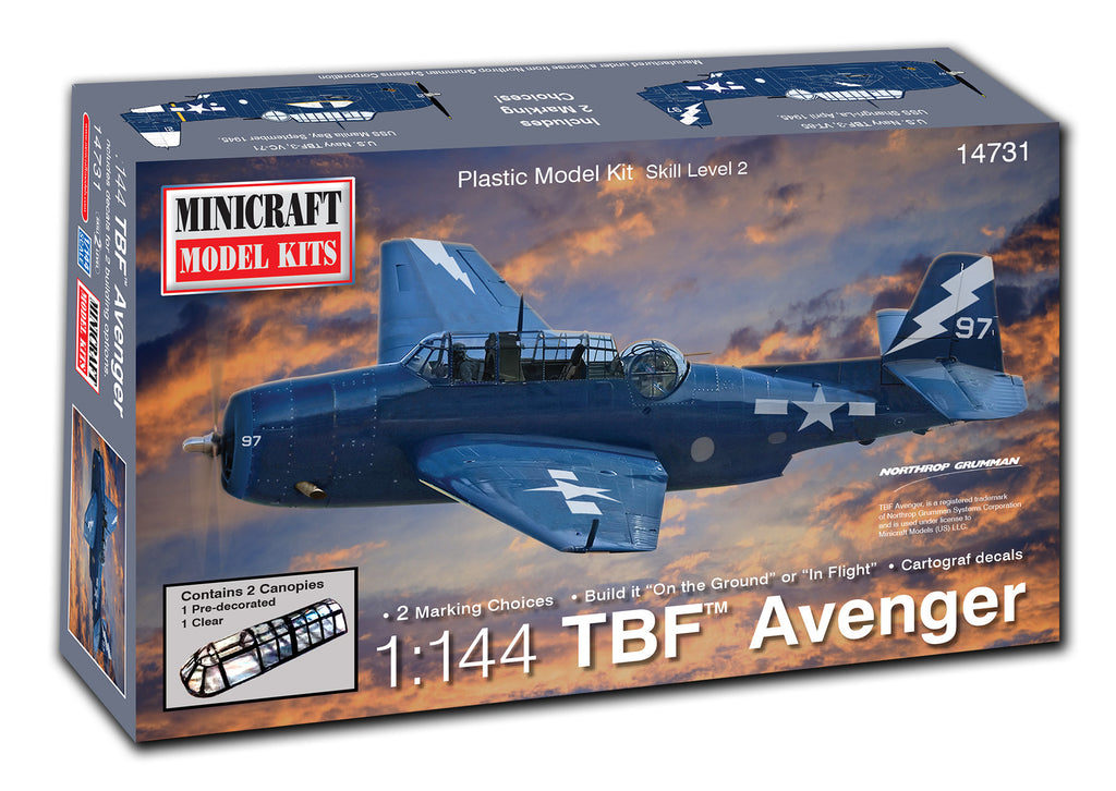 14731 1/144 TBF Avenger (Pre-Painted Canopy)