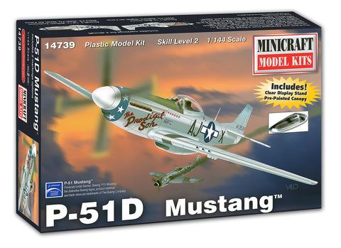 14739 1/144 P-51D Mustang      Pre-Painted Canopy & Clear Display Stand