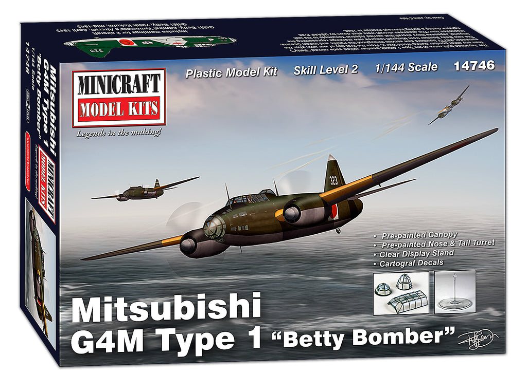 "14746 1/144 Mitsubishi G4M Type 1 ""Betty Bomber"" 