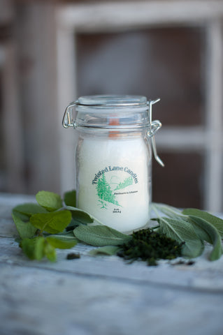 Basil Sage and Mint Candle