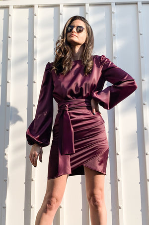 Taylor dress | DARK PURPLE