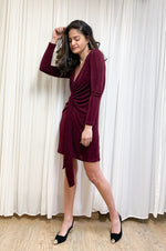 Freddie dress | WINE RED