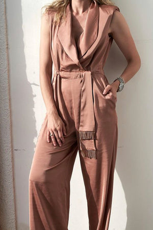 Rome jumpsuit | LIGHT BROWN