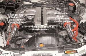 IS1981P - Injen Technology IS Twin-Tuned Air Intake Pipes With Hose And Clamps Uses Factory Air Box Assembly