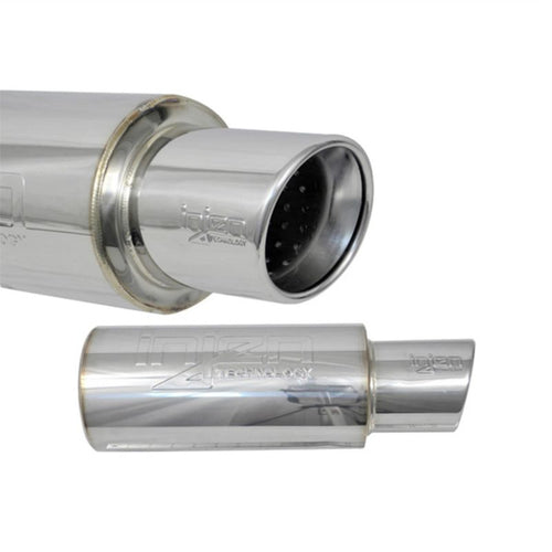 SES300C - Injen 3.00 Universal Muffler  With Stainless Steel Resonated Rolled Tip