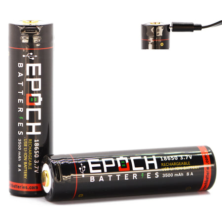 Epoch 18650 3500mAh 8A USB Rechargeable Battery