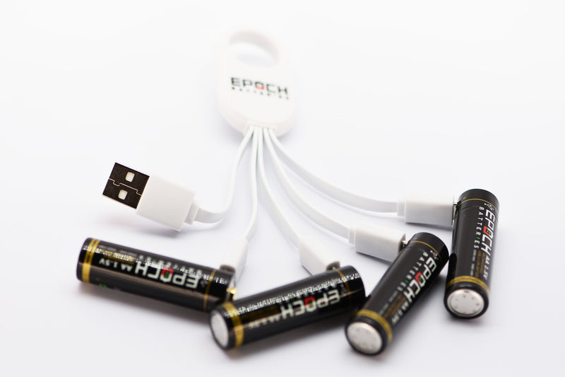 Epoch AA 1.5V 2300mAh USB Rechargeable Battery - 4 Pack