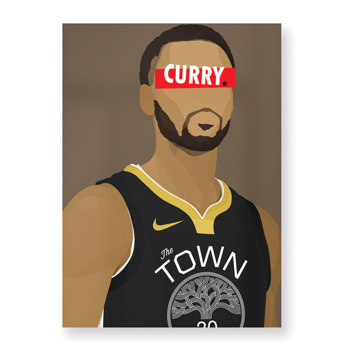 Affiche Stephen Curry - Hugoloppi
