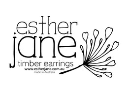 Logo for Esther Jane timber earrings and gifts from Bermagui, Sapphire Coast NSW