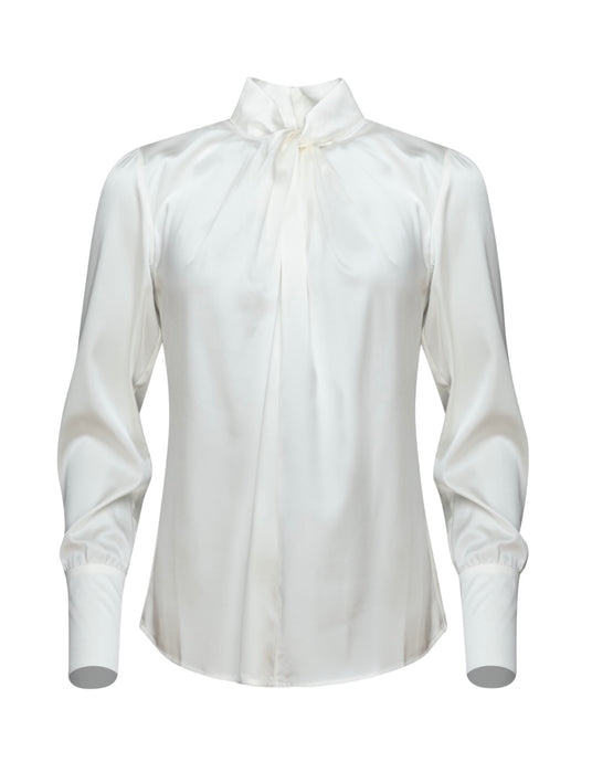 Twist blouse Denni silk ivory