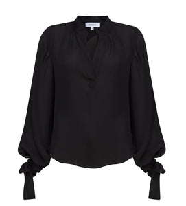 Blouse Luzette Black Silk