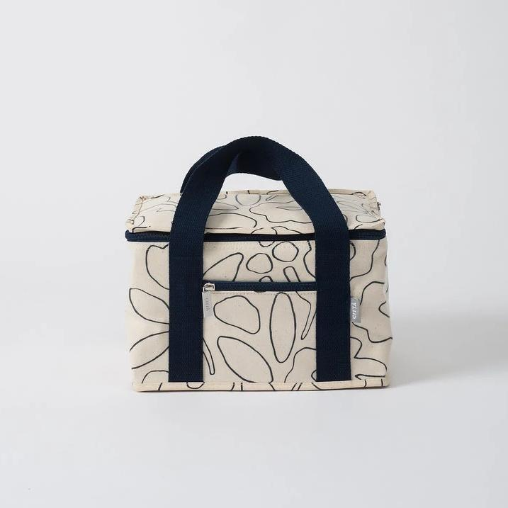 Daisy Chain Mini Cooler - Navy/Natural