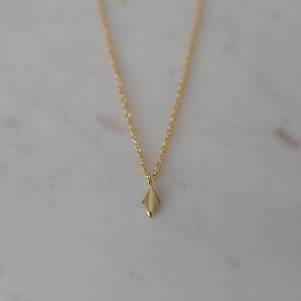 Diamond Necklace - 14kt gold plated