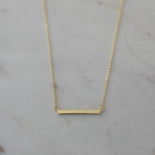 Mini Bar Necklace - Gold