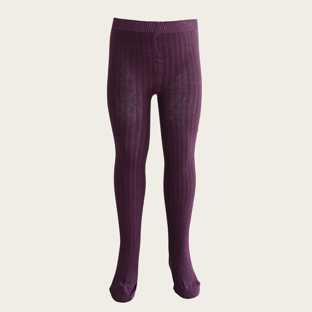 Ribbed Tights - Blackcurrant