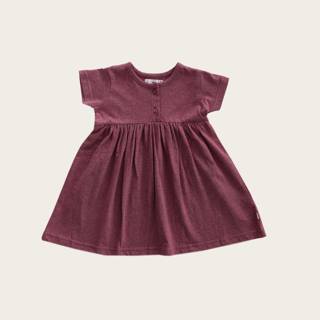 Short Sleeve Dress - Pink Raspberry
