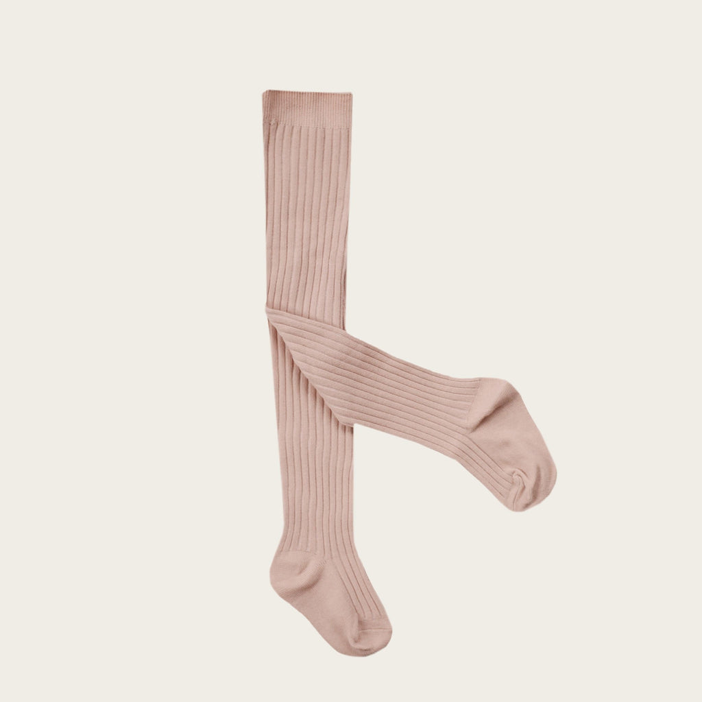 Rib Tights - Rose Dust