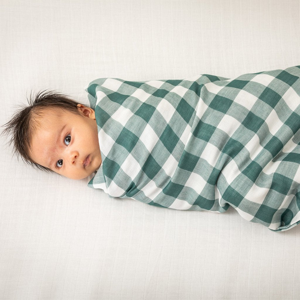 Muslin | Swaddle | Gingham | Pine