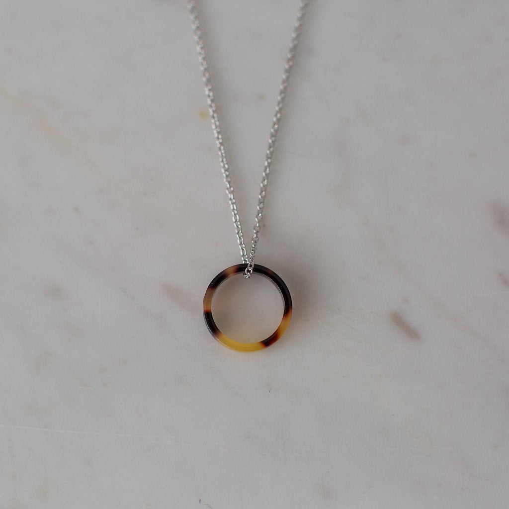 Tort Necklace - Sterling Silver - Dark