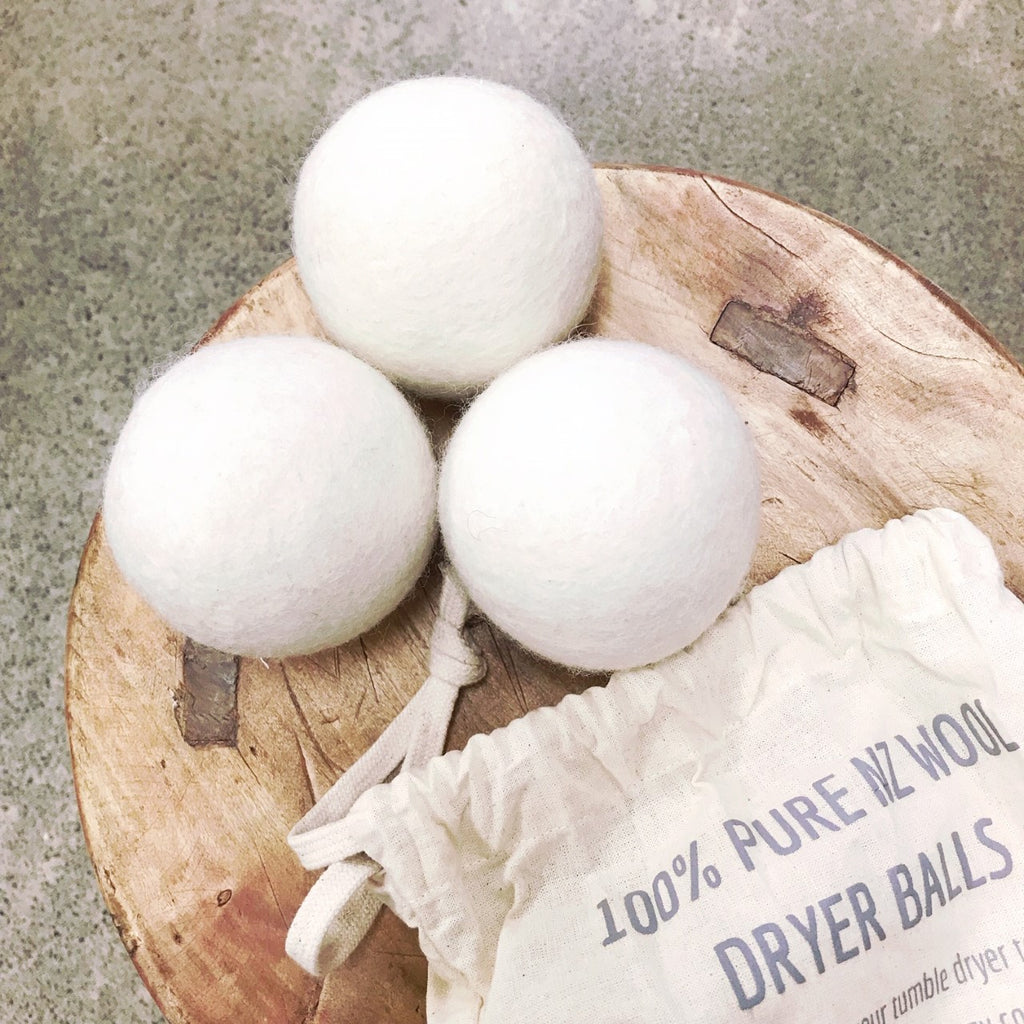 100% NZ Wool Dryer Balls - 3pk
