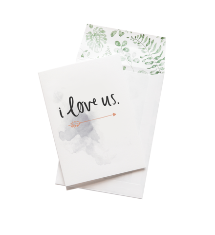 I Love Us - Greeting Card