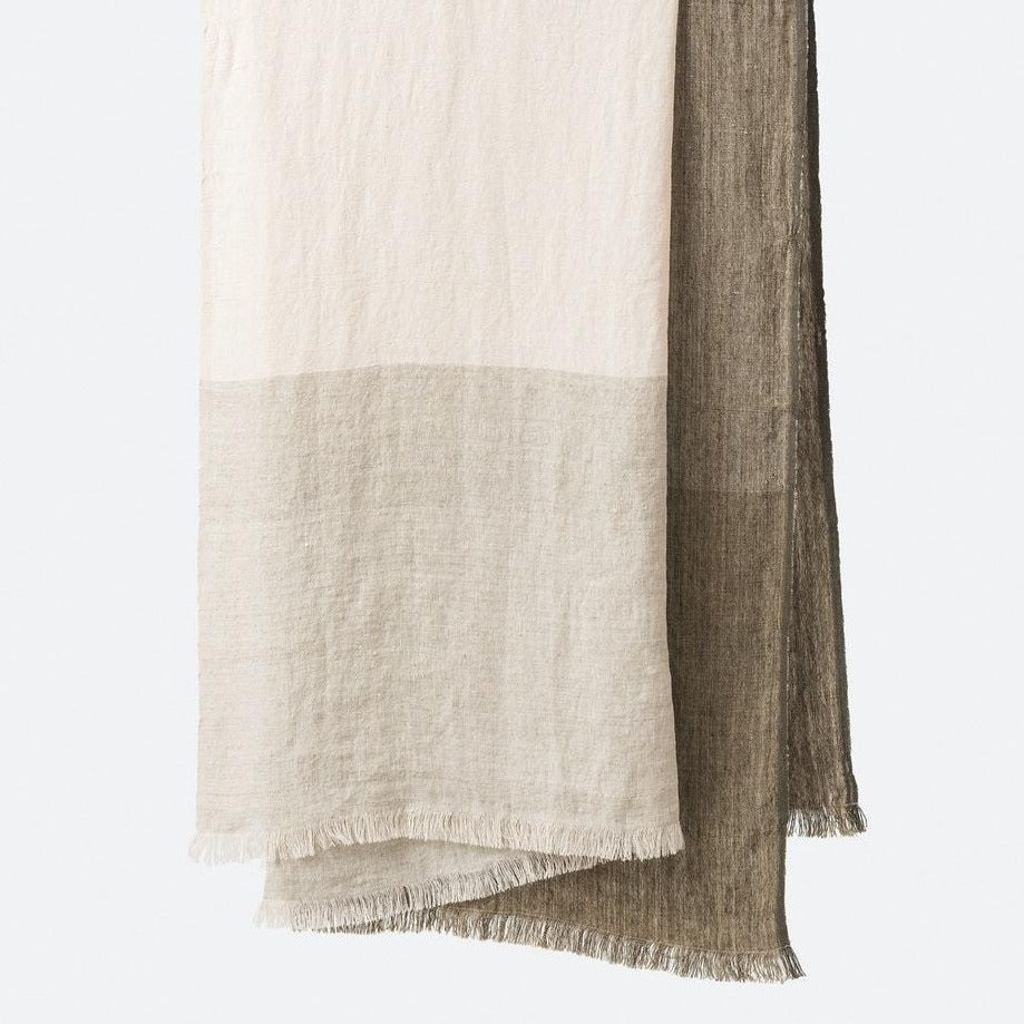 Hugo Linen Throw -Pickle / Multi