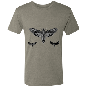 """Nocturnal birds"" Illustration of moths. Men's Triblend T-Shirt"