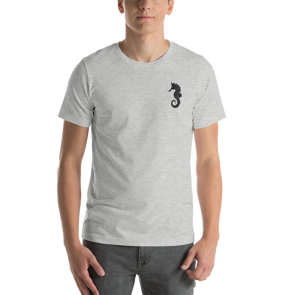 "Embroided fatherhood Symbol: ""Father Hippocampus"" , Seahorse.Short-Sleeve Unisex T-Shirts"