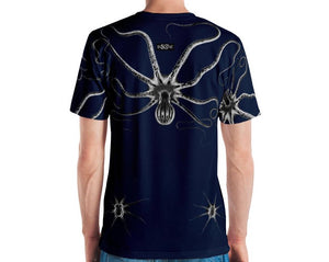 Dark Zinc Grey Octopus, 4 COLOR VARIANTS. Men's T-shirt.
