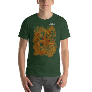 Basket star with tangled legs, in deep gold color. Short-Sleeve Unisex T-Shirt