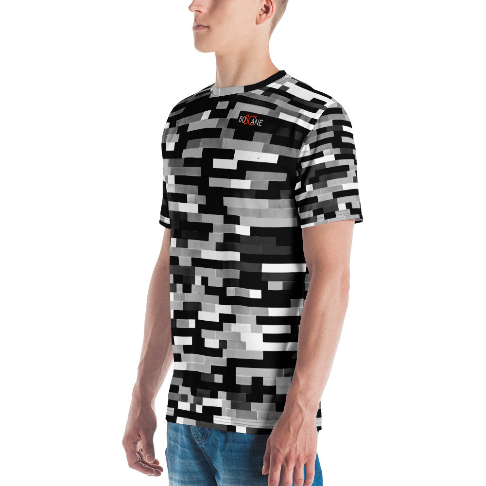 """Dramatic Dichromatic Legos"" Another Fun version of the famous ""Lego Wailing Wall"" in Black and White, Men's T-shirt"