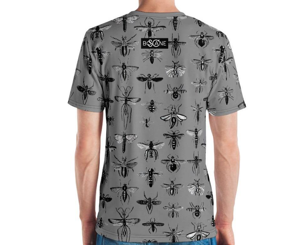 """Insect Vibrations"" in aluminium grey. 5 COLOR VARIANTS. Men's T-shirt"