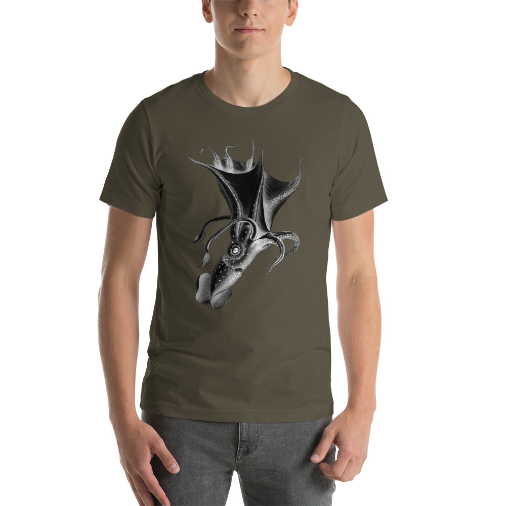 Squid, Inverted image. Short-Sleeve Unisex T-Shirt