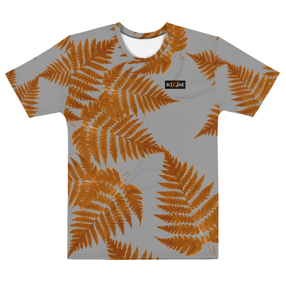 Deep gold ferns, in 4 COLOR VARIANTS. Men's T-shirt