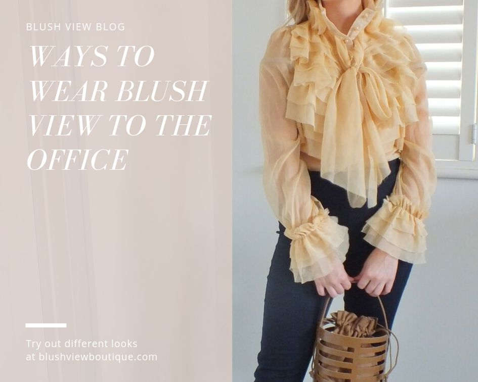 Ways to Wear Blush View to the Office