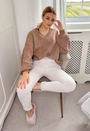 Carmen Knitted Jumper in Camel