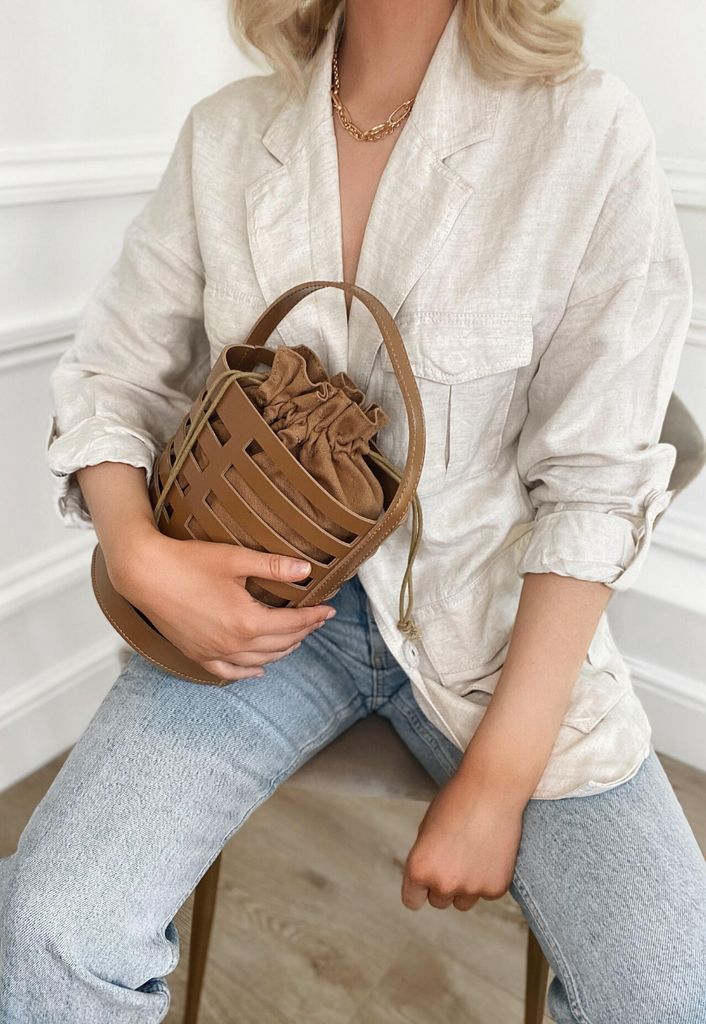 Lara Cut Out Bucket Bag