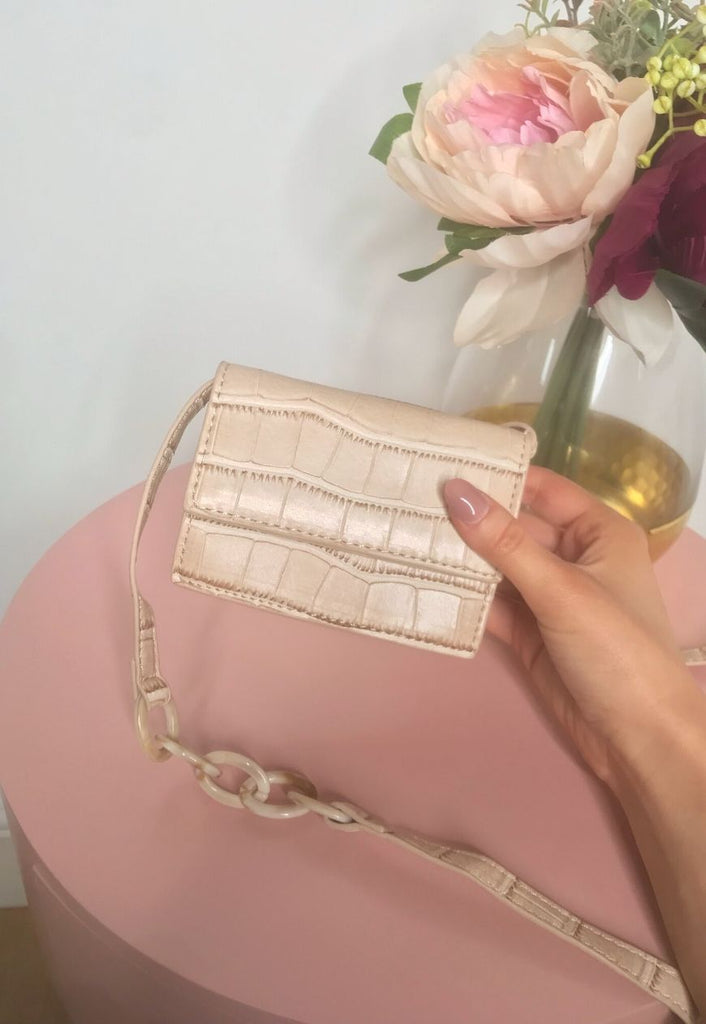 Aurora Crocodile Mini Wallet Bag