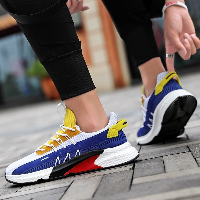 Sneakers Lightweight Comfortable Casual Shoes Zapatillas Hombre  Colorblock Canvas Shoes - XenoStudio