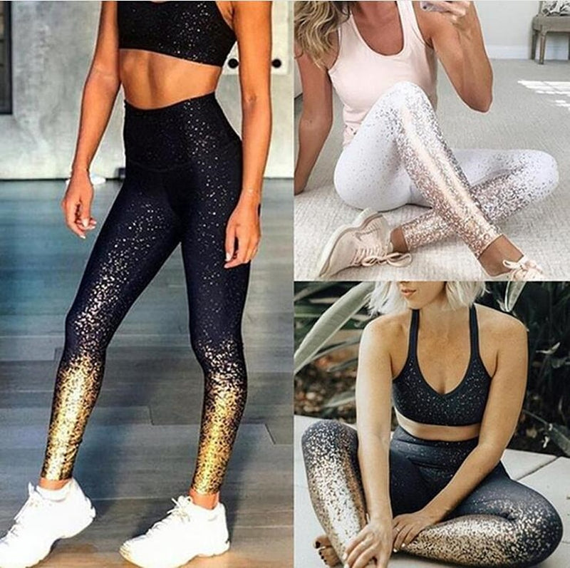 Patchwork Yoga Set Sport Fitness Women Pants Leggings Push Up Yoga Pants Summer Sportswear - XenoStudio