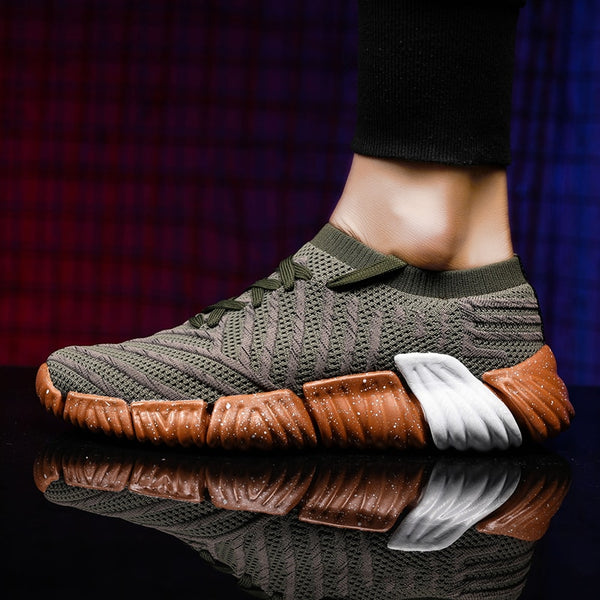Running Shoes Adult Breathable Knit Athletic Outdoor Sport Sneakers  Walking Shoes - XenoStudio