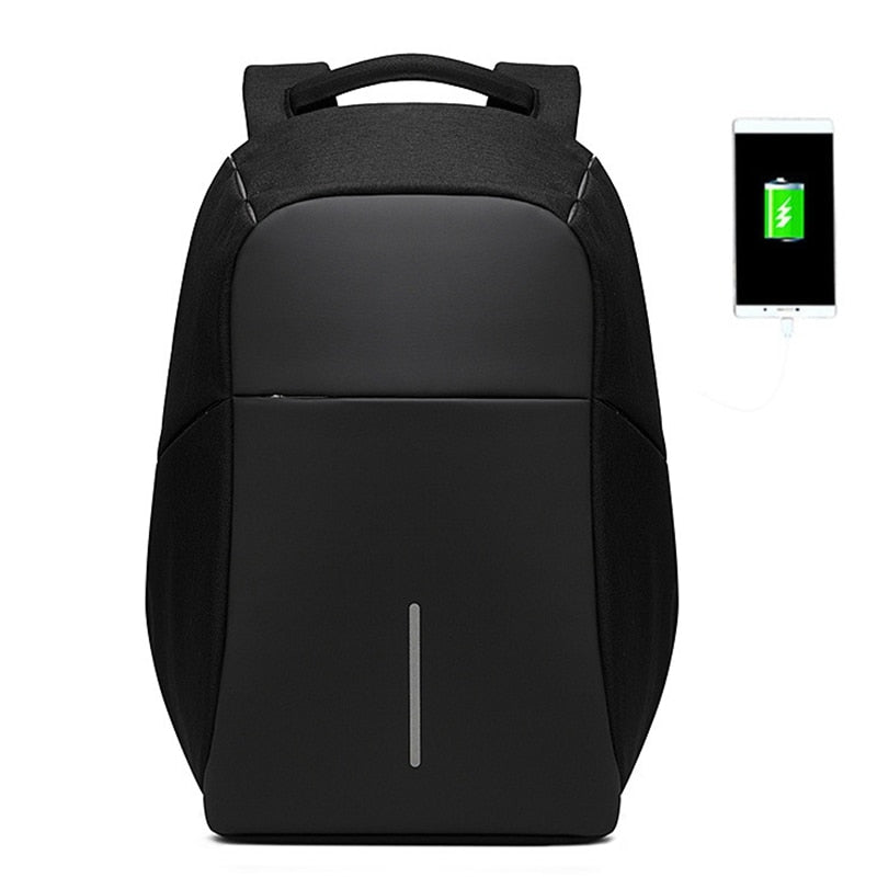 Men Anti theft Backpack USB Charging 15.6 Laptop Backpack Multifunction Waterproof Travel Bagpack  School bag - XenoStudio